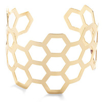 ModCloth Statement Sweet Like Honeycomb Bracelet
