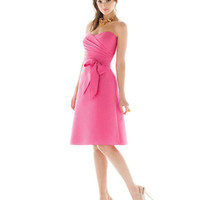 Taffeta Sweetheart Sash Knee Length Bridesmaid Dresses