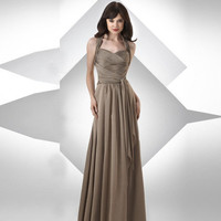 Halter Sash Floor Length Bridesmaid Dresses