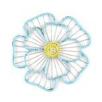 Kirkland's: Blue Beaded Flower Plaque