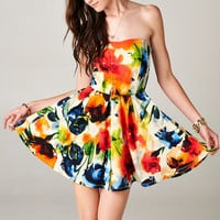 MULTI COLOR FLORAL DRESS | PUBLIK | Women's Clothing & Accessories