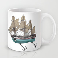 To catch a sea monster Mug by John Medbury (LAZY J Studios) | Society6