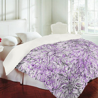 DENY Designs Home Accessories | Lisa Argyropoulos Angelica Purple Duvet Cover