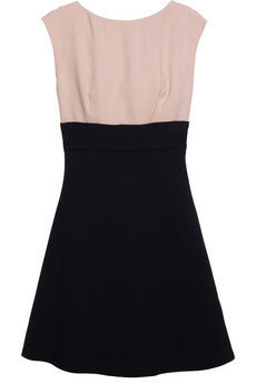 Miu Miu | Two-tone cady dress | NET-A-PORTER.COM