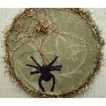 Christmas Yule decoration winter legend of the spider ornament vintage style holiday decor