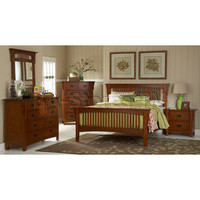 Danville 6 PC Bedroom Set in Oak Finish | Bedroom sets HE-2109-SET/4