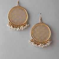ROWENA FILIGREE BEADED EARRINGS
