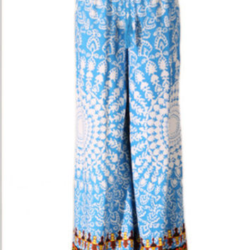Mandala Print Palazzo Pants in Teal | Sweetrebelboutique.com | Sweet Rebel