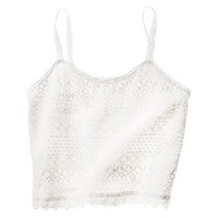 Junior's Cropped Lace Tank