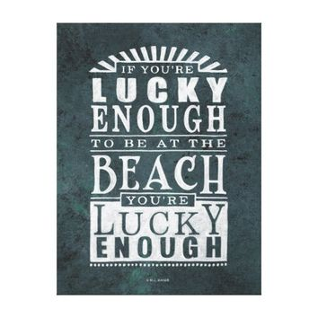 Beach Lover's Vintage Style Wall Canvas