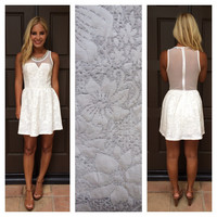 Starlet Nights Crystal Studded Dress - WHITE