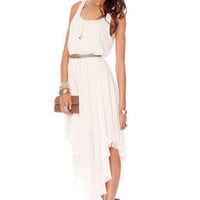 Blanca Belted Tank Dress in Off White :: tobi