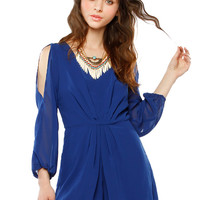 Papaya Clothing Online :: CUT-OUT SHOULDER CHIFFON ROMPER