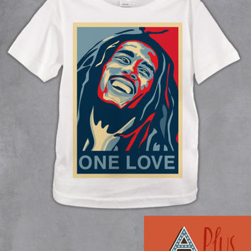 Bob Marley One Love Kids T Shirt - Reggae Ska Music T Shirts