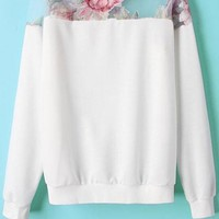 Innovative Organza Paneled Sweatshirts