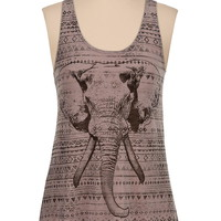 Ethnic and elephant print tank