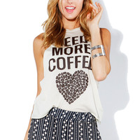 Papaya Clothing Online :: NEED MORE COFFE GRAPHIC TOP