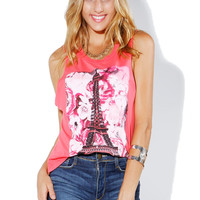 Papaya Clothing Online :: EIFFEL TOWER GRAPHIC TOP
