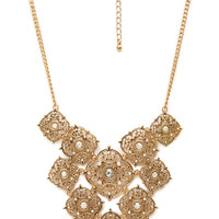 Layered Filigree Pendant Necklace