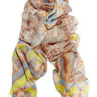 Matthew Williamson|Printed modal and cashmere-blend scarf|NET-A-PORTER.COM