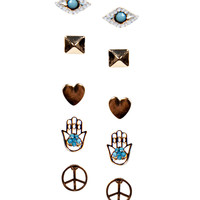 Darcey Eye And Hamsa Earring Set