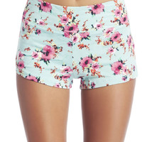 Floral Print Shortie | Wet Seal