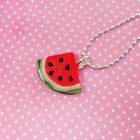 polymer cly juicy watermelon polymer clay necklace