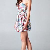 FLORAL PLEATED TUBE DRESS | PUBLIK | Women's Clothing & Accessories