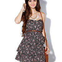 Papaya Clothing Online :: FLORAL LAYERED DRESS