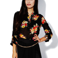 Papaya Clothing Online :: FLORAL CHIFFON TOP
