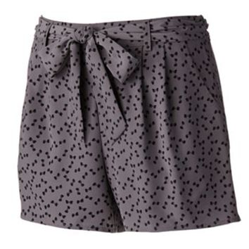 LC Lauren Conrad Bow Pleated Shorts - Women's