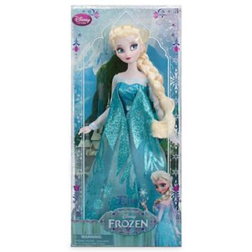 "2014 Disney Store / Parks Exclusive Queen Elsa Frozen Toys 12"" Classic Doll New!"