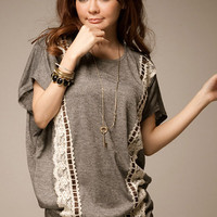 Leisure Fashion Gray Chic T-shirt