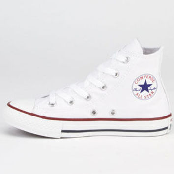 Converse Chuck Taylor Core Hi Girls Shoes Optical White  In Sizes