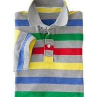 Striped Piqué Polo (Grey Multi Stripe)