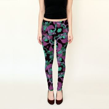 Floral Arabesque Pattern by Daniel Ferreira-Leites (Leggings)