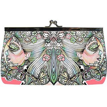 """Eye of the Beholder"" Clutch Handbag by Pajamasquid Brand (Multi/Pink)"