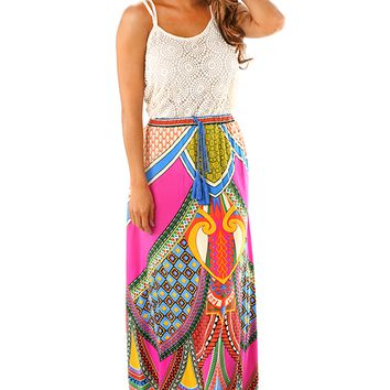 Changing Lights Maxi Skirt: Multi