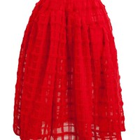 SIMONE ROCHA | Mohair Check Flared Skirt | Browns fashion & designer clothes & clothing