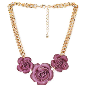 Soft Rose Necklace