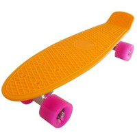 "22"" Standard Complete Skateboard Retro Board Selectable Colors"