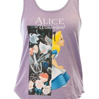 Mighty Fine Disney's Alice in Wonderland Garden Contrast Tank Top