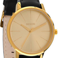 Nixon Kensington Leather Analog Watch