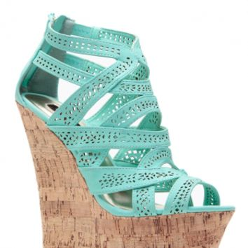 Mint Laser Cut Curves Ahead Cork Wedges @ Cicihot Wedges Shoes Store:Wedge Shoes,Wedge Boots,Wedge Heels,Wedge Sandals,Dress Shoes,Summer Shoes,Spring Shoes,Prom Shoes,Women's Wedge Shoes,Wedge Platforms Shoes,floral wedges