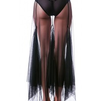 Widow Smoke Mesh Maxi Skirt | Dolls Kill