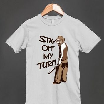 Stay Off My Turf - Gangsta Ape Unisex T Shirt - other styles and colors are available