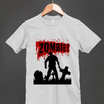 Zombie! And Lots Of Blood Unisex T Shirt - other styles and colors are available