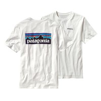 Patagonia Men's P-6 Logo Organic Cotton T-Shirt | White