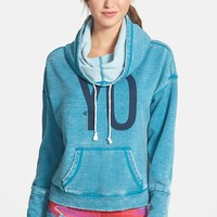 Reebok 'Yoga Bo' Cowl Neck Fleece Hoodie (Online Only)