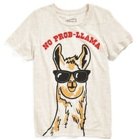Mighty Fine 'No Prob-llama' T-Shirt (Toddler Boys & Little Boys)